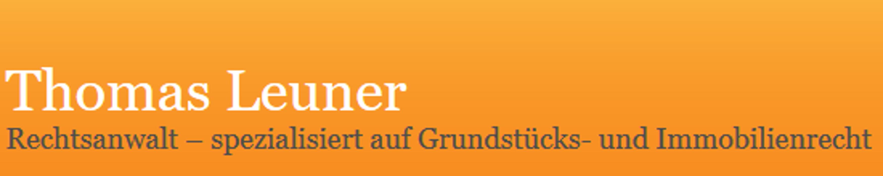 Bild zu Thomas Leuner Rechtsanwalt - spezialisiert auf Grundstücks- und Immobilienrecht in Berlin