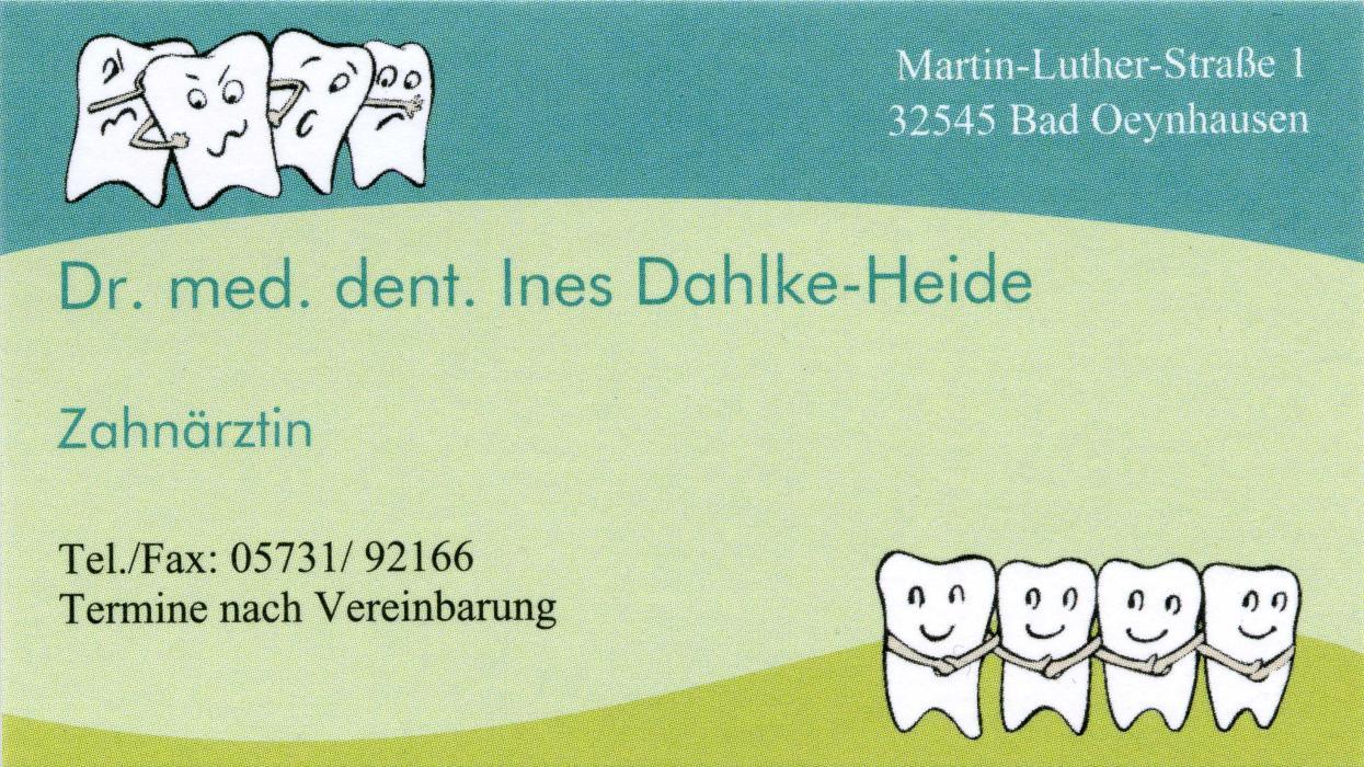 Bild zu Dr. med. dent. Ines Dahlke-Heide in Bad Oeynhausen