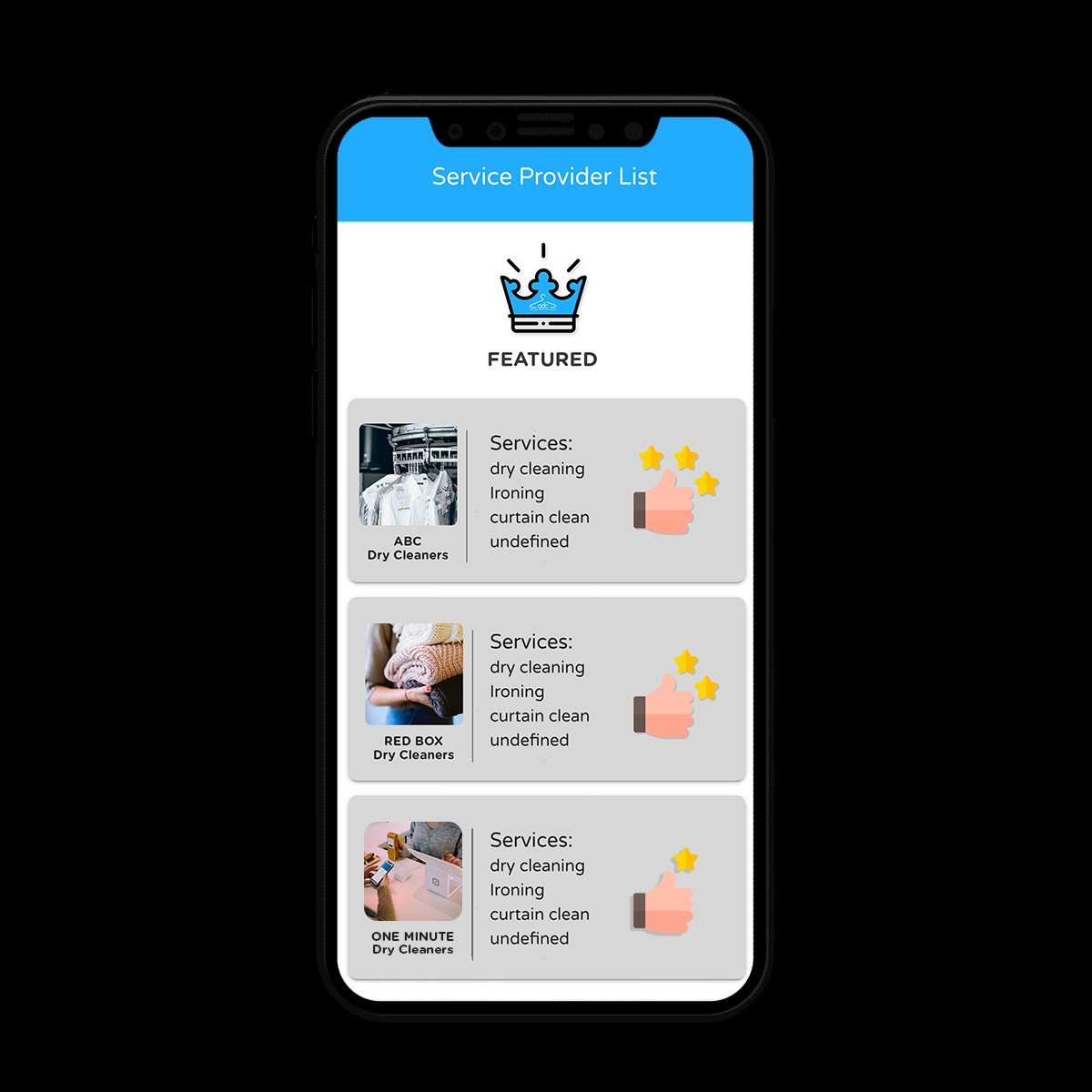 Online Dry Cleaning: Pickup & Delivery App