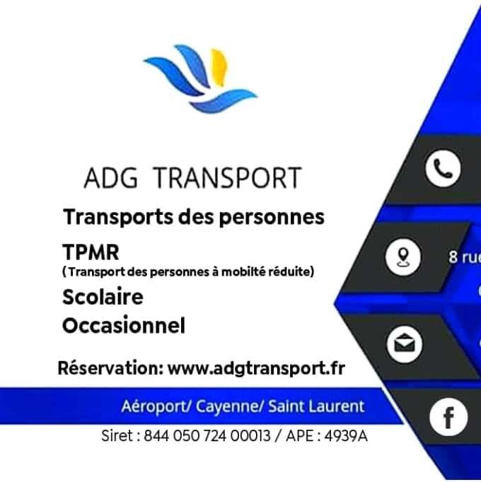 ADG Transport, transport de personne CAYENNE