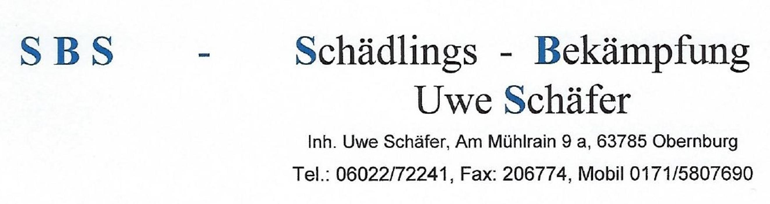 Bild zu SBS - Schädlings-Bekämpfung Uwe Schäfer, Inh. Uwe Schäfer in Obernburg am Main