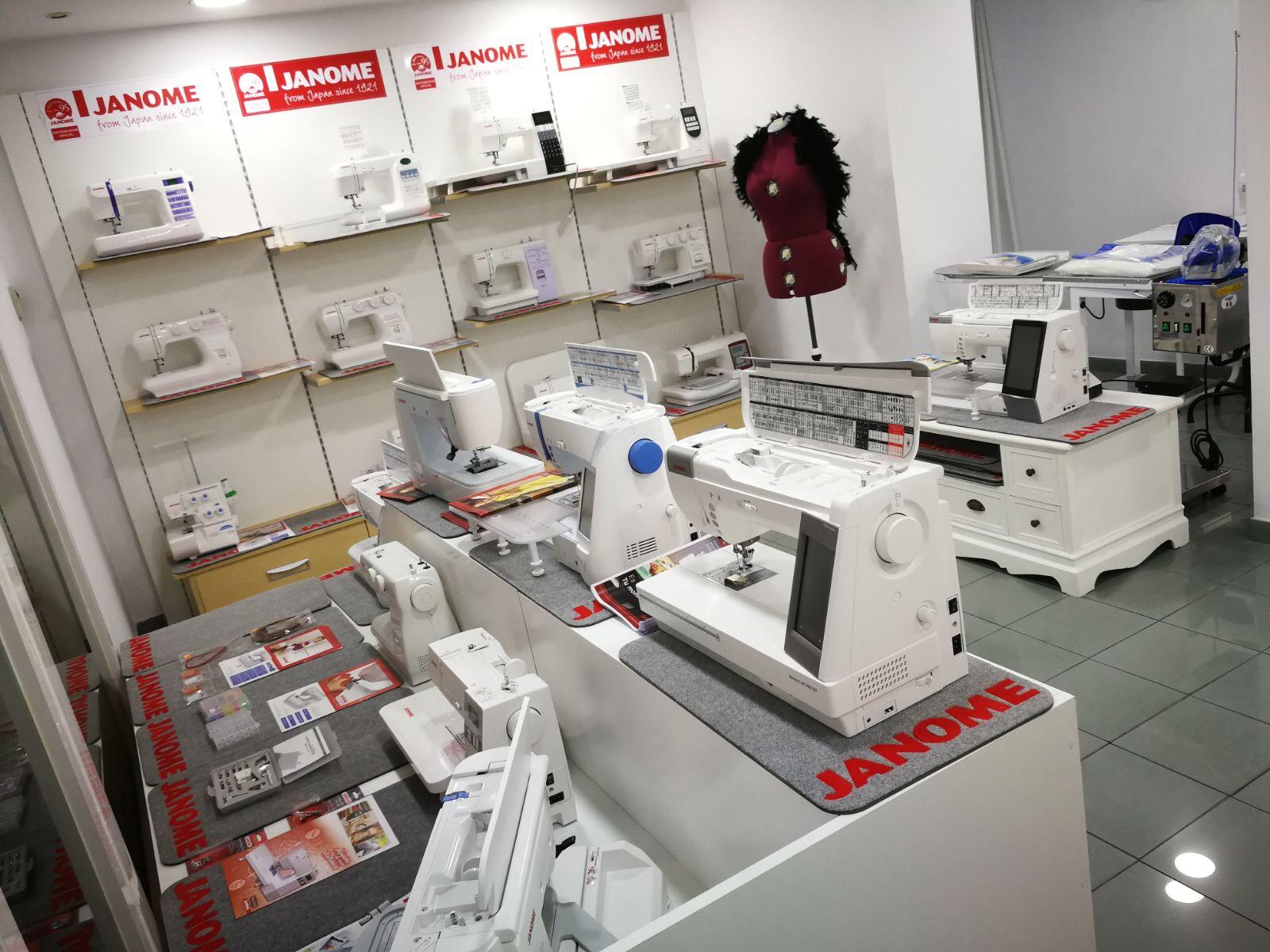 Mercería Barcelona - Maquinas de coser Janome