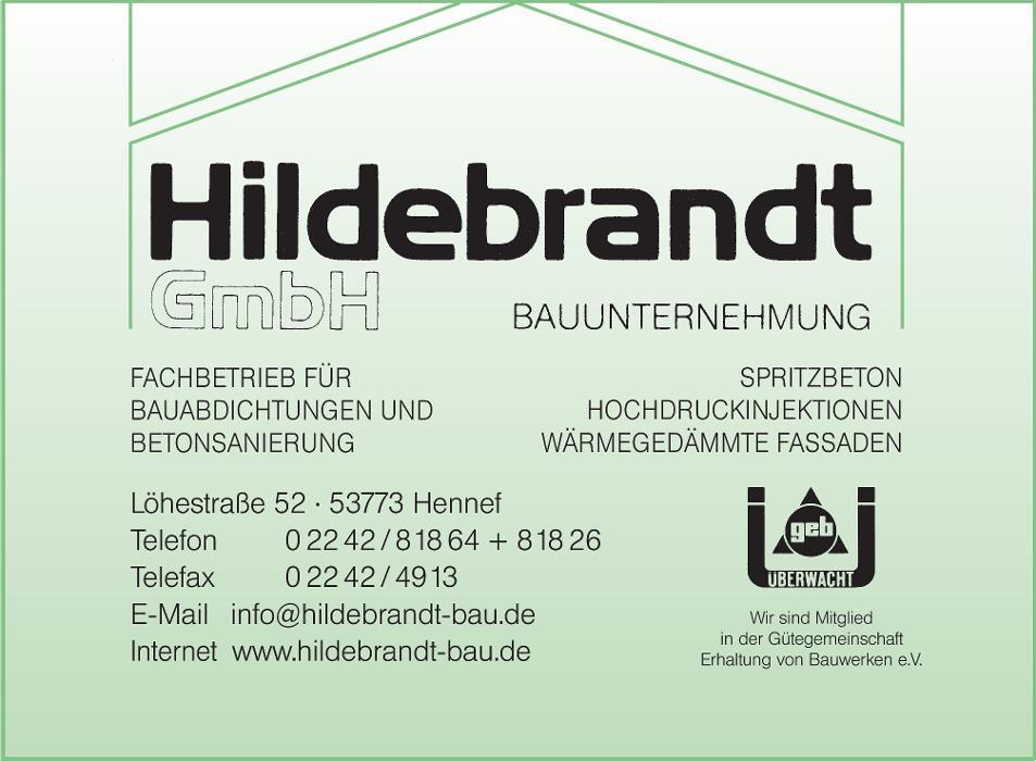 Bild zu Bauunternehmung Hildebrandt GmbH - Bauabdichtungen und Betonsanierung in Hennef an der Sieg