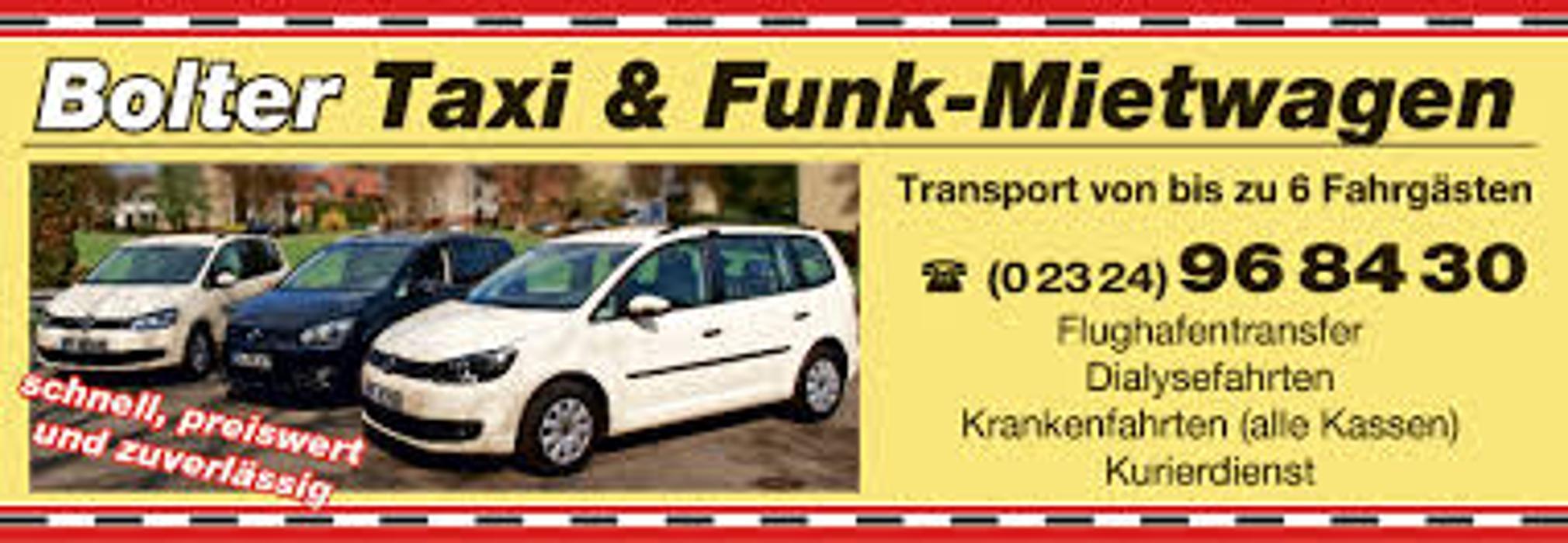 Bild zu Taxiunternehmen Inh. Jörg-Detlev Bolter in Sprockhövel