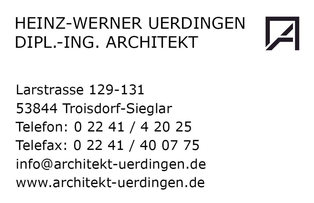Bild zu Dipl.-Ing. Architekt Heinz-Werner Uerdingen in Troisdorf