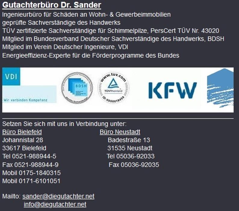 Bild zu Gutachterbüro Dr. Sander in Bielefeld