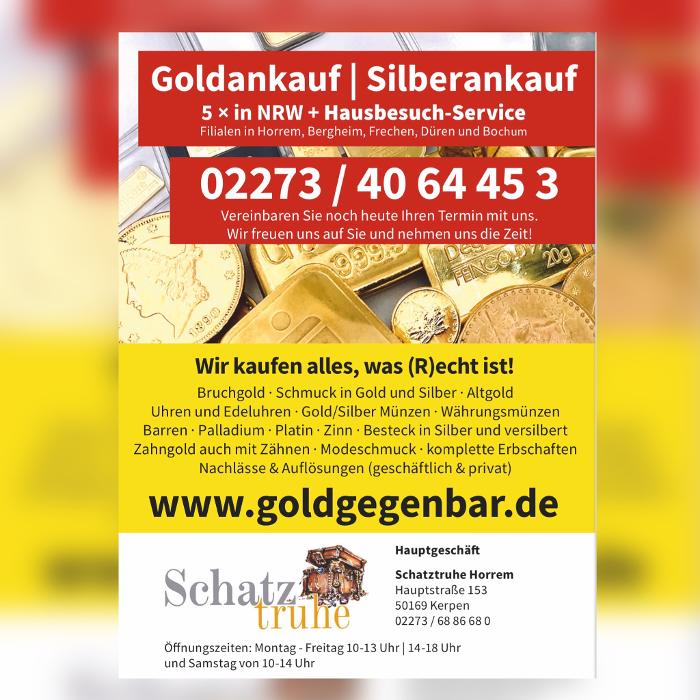 Bild zu Schatztruhe GmbH & Co. KG Juwelier Goldankauf Uhren + Schmuck in Kerpen im Rheinland