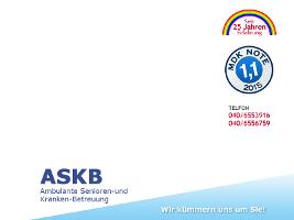 ASKB Seniorenbetreuung und Krankenbetreuung - Ihr ambulanter Pflegedienst in Hamburg