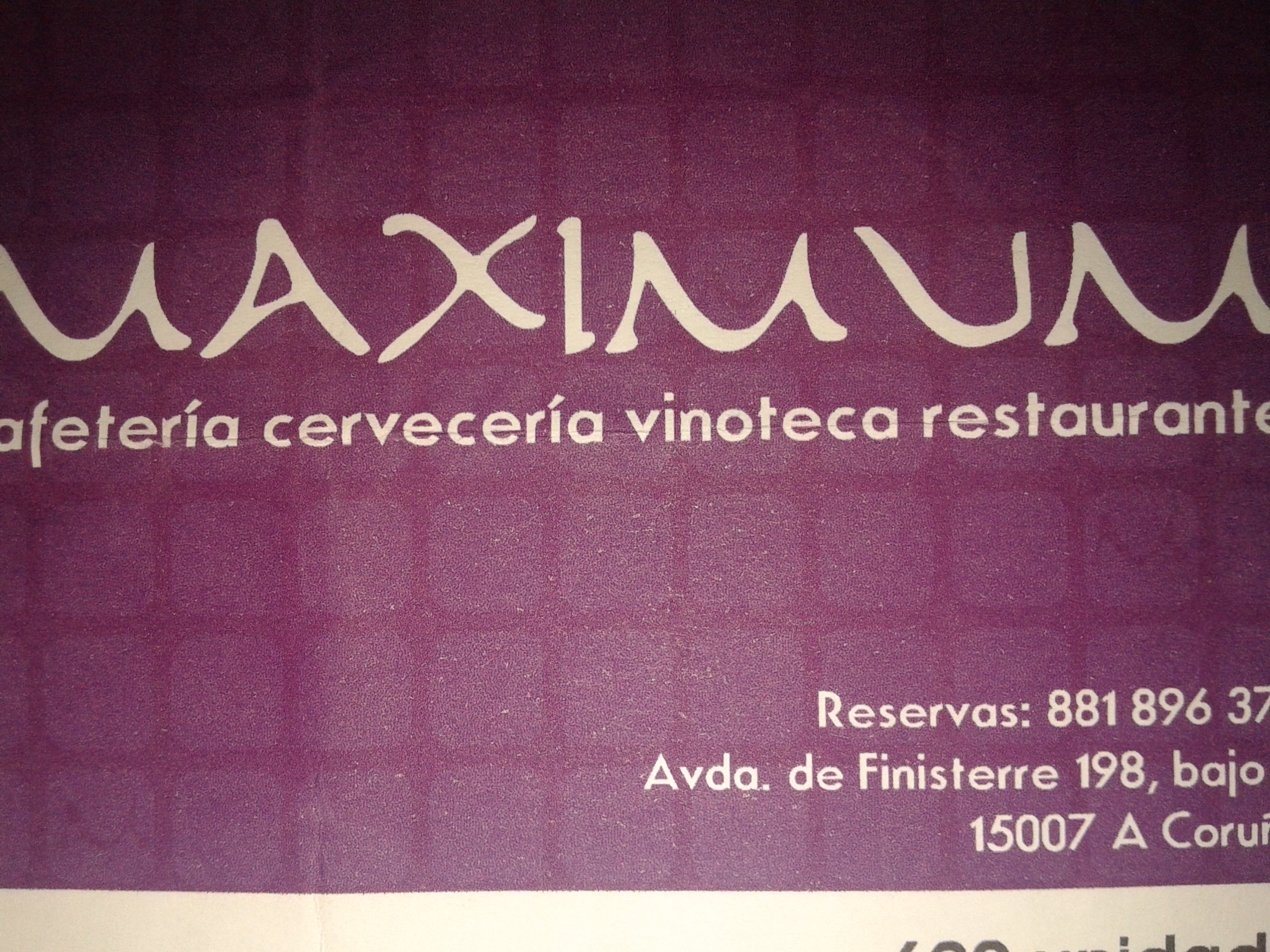 restaurante-cerveceria maximum