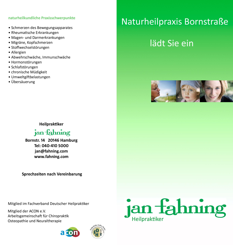 Jan D. Fahning Heilpraktiker Osteopath