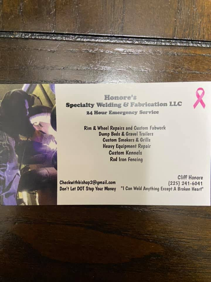 Honore's Specialty Welding & Fabrication LLC