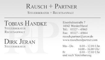 Rausch + Partner Steuerberater + Rechtsanwalt
