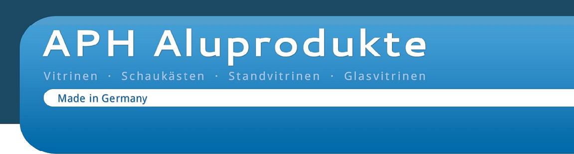 Logo von APH Aluprodukte - Vitrinen - Schaukästen - Glasvitrinen