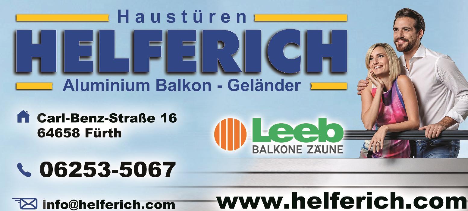 Bild zu Helferich & Sohn Tür- u. Fensterbau GmbH in Fürth im Odenwald
