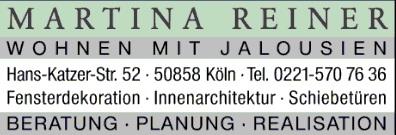 Martina Reiner Fensterdekorationen Köln