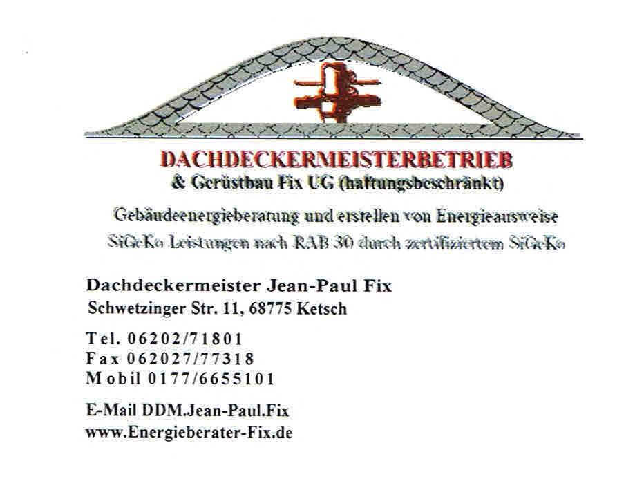 Dachdeckermeisterbetrieb & Gerüstbau Fix UG Logo