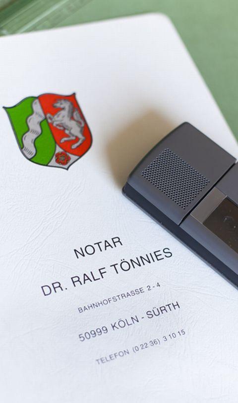 Notar Dr. Ralf Tönnies