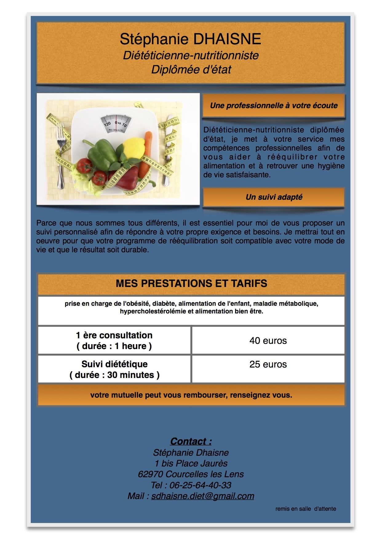 STEPHANIE DHAISNE Diététicienne-Nutritionniste