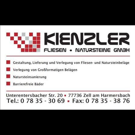 Bild zu Kienzler Fliesen-Natursteine GmbH in Zell am Harmersbach
