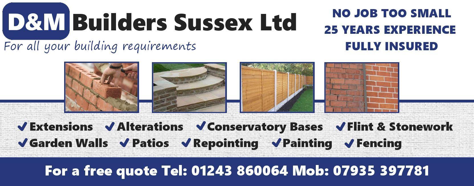 D & M Builders (Sussex) Ltd - West Sussex, West Sussex PO22 8HH - 01243 860064 | ShowMeLocal.com