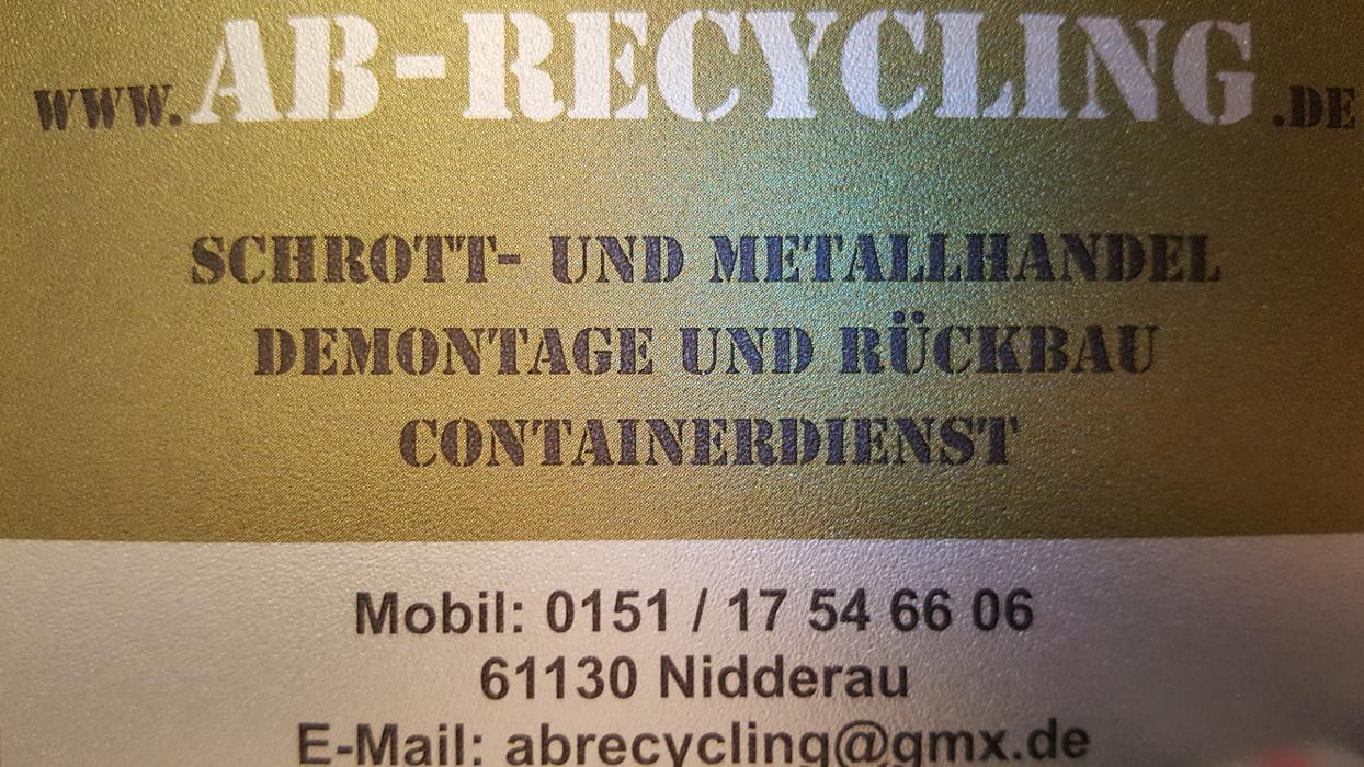 Logo von AB-Recycling,Schrott & Metalle,Demontage,Entrümpelung