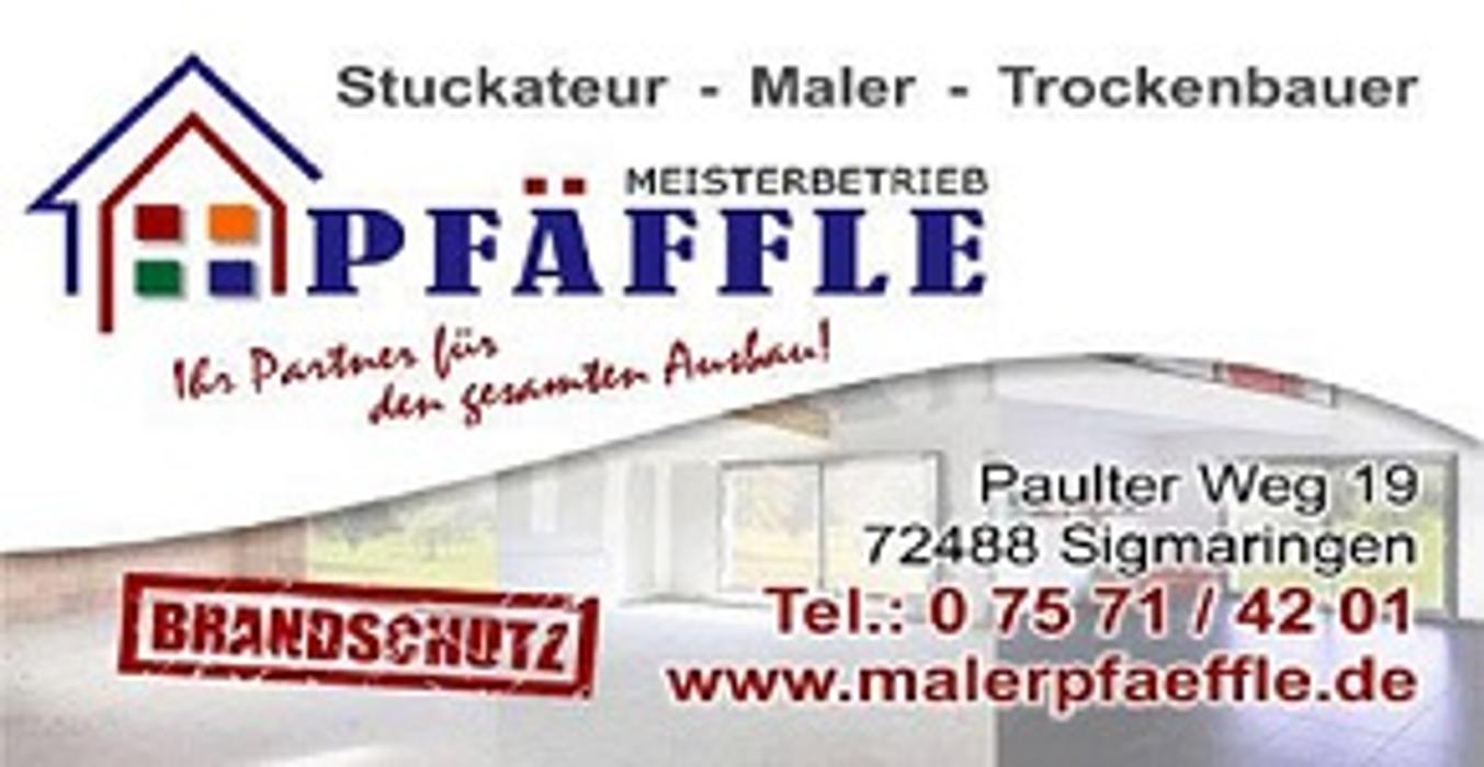 Bild zu Maler-Stuckateur-Trockenbau-Brandschutzfachbetrieb Pfäffle in Sigmaringen