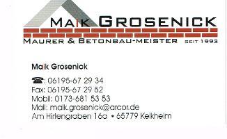 Maik.Grosenick Maurer & Betonbau Meister