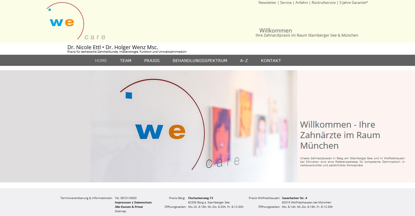 We Care Zahnärzte - Dr. Nicole Ettl & Dr. Holger Wenz Msc.