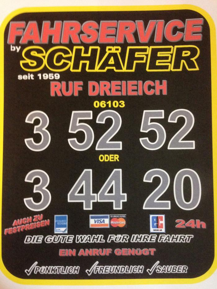 Bild zu Fahrservice Schäfer Dreieich (vormals TAXI Dreieich Schäfer) in Dreieich
