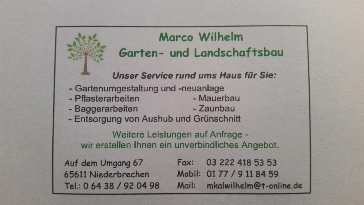 Bild zu Marco Wilhelm Garten- und Landschaftsbau in Limburg an der Lahn