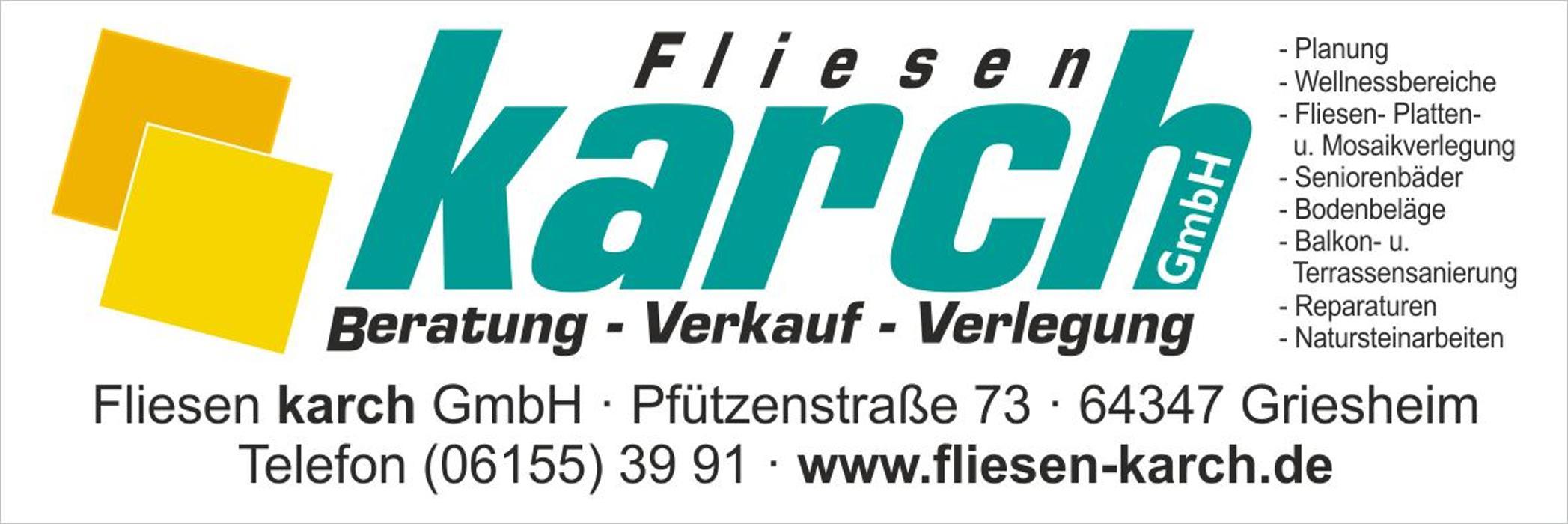 Bild zu Fliesen Karch GmbH in Griesheim in Hessen