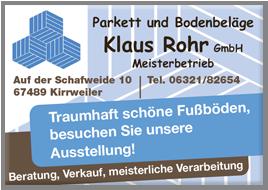 Rohr Klaus GmbH Parkett und Bodenbeläge