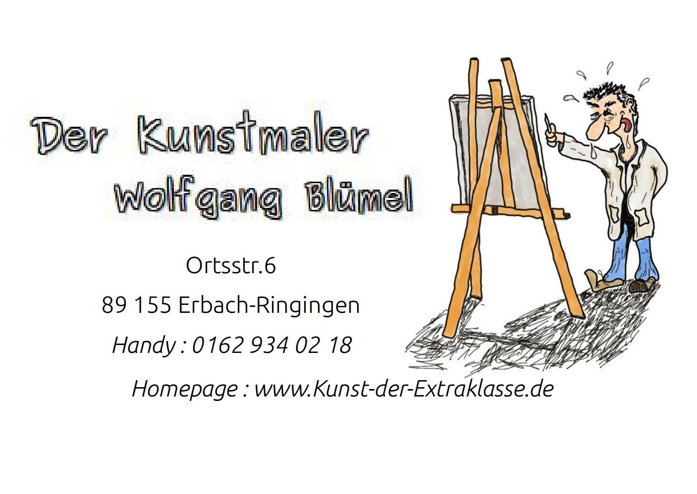 Der Kunstmaler Wolfgang Blümel