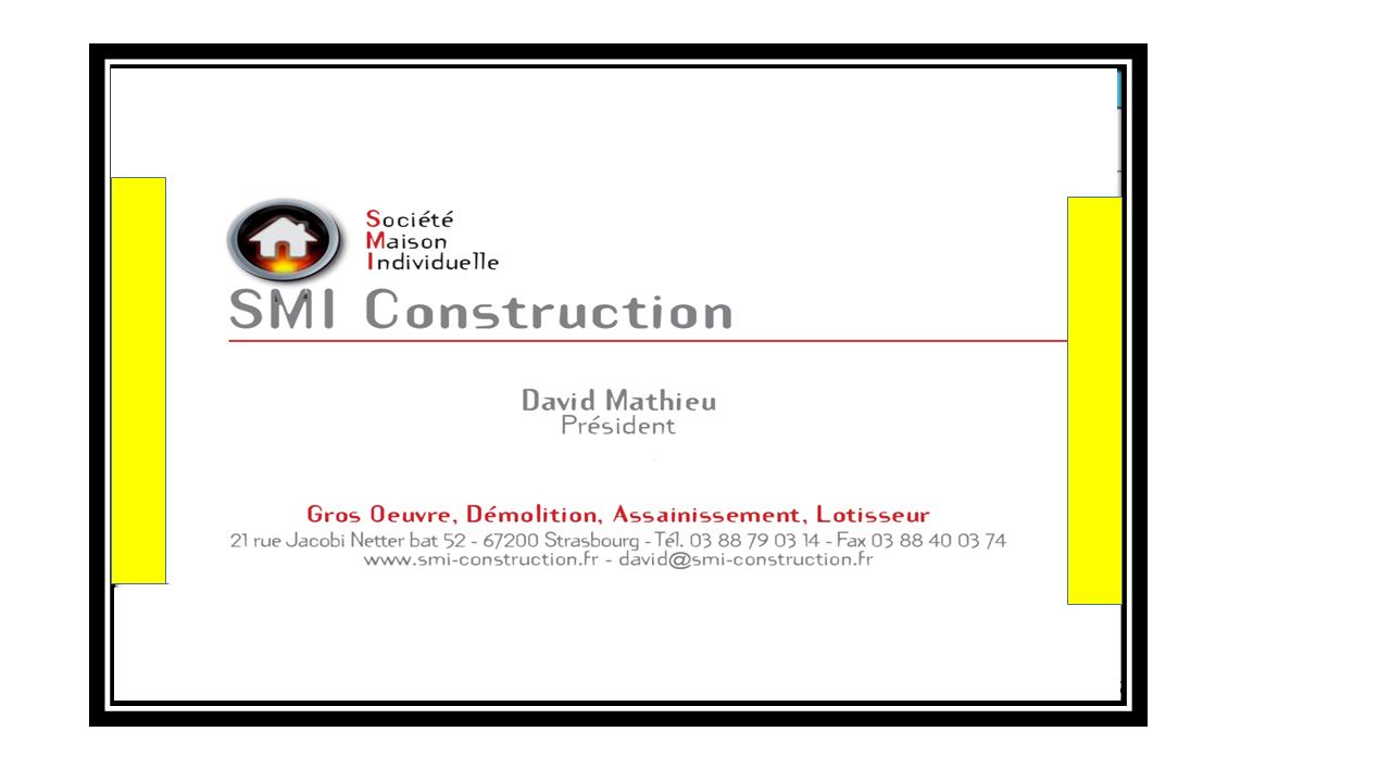 SMI CONSTRUCTION Construction, travaux publics