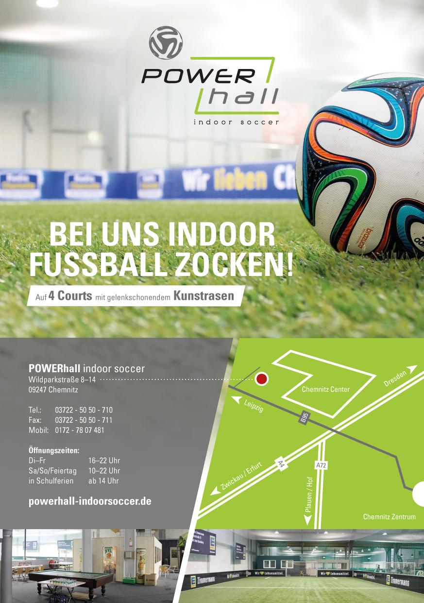 powerhall indoor soccer in chemnitz branchenbuch deutschland. Black Bedroom Furniture Sets. Home Design Ideas