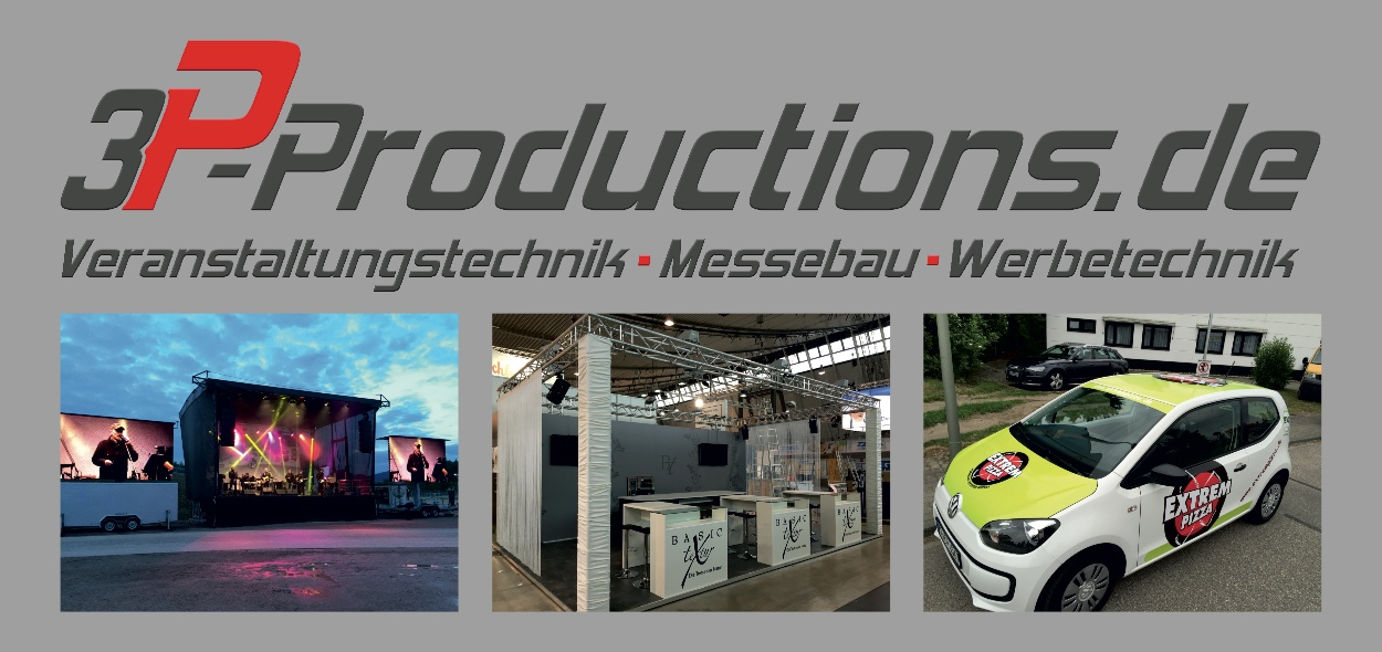 3P-Productions Veranstaltungstechnik - Messebau - Werbetechnik