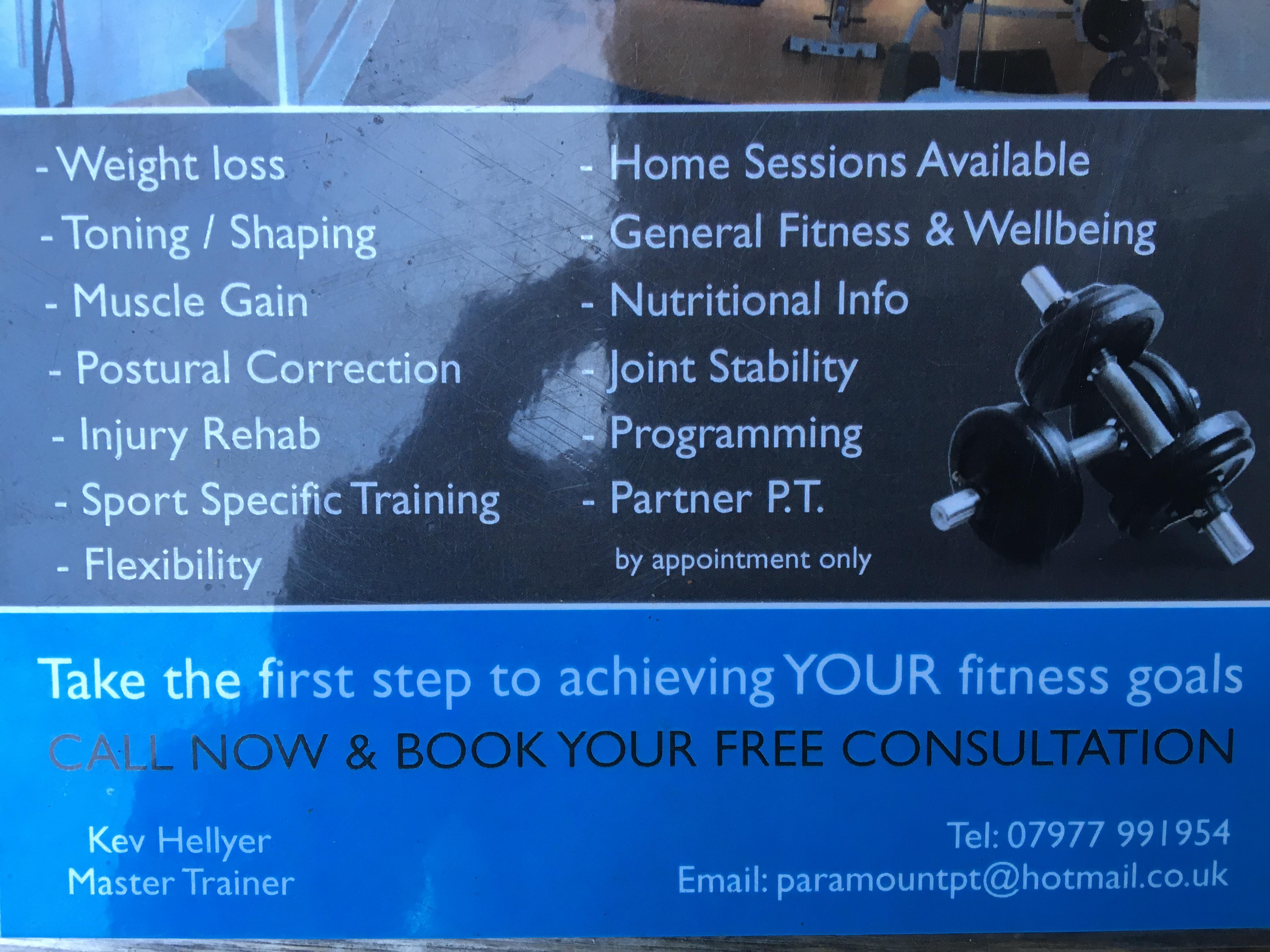 Paramount personal training