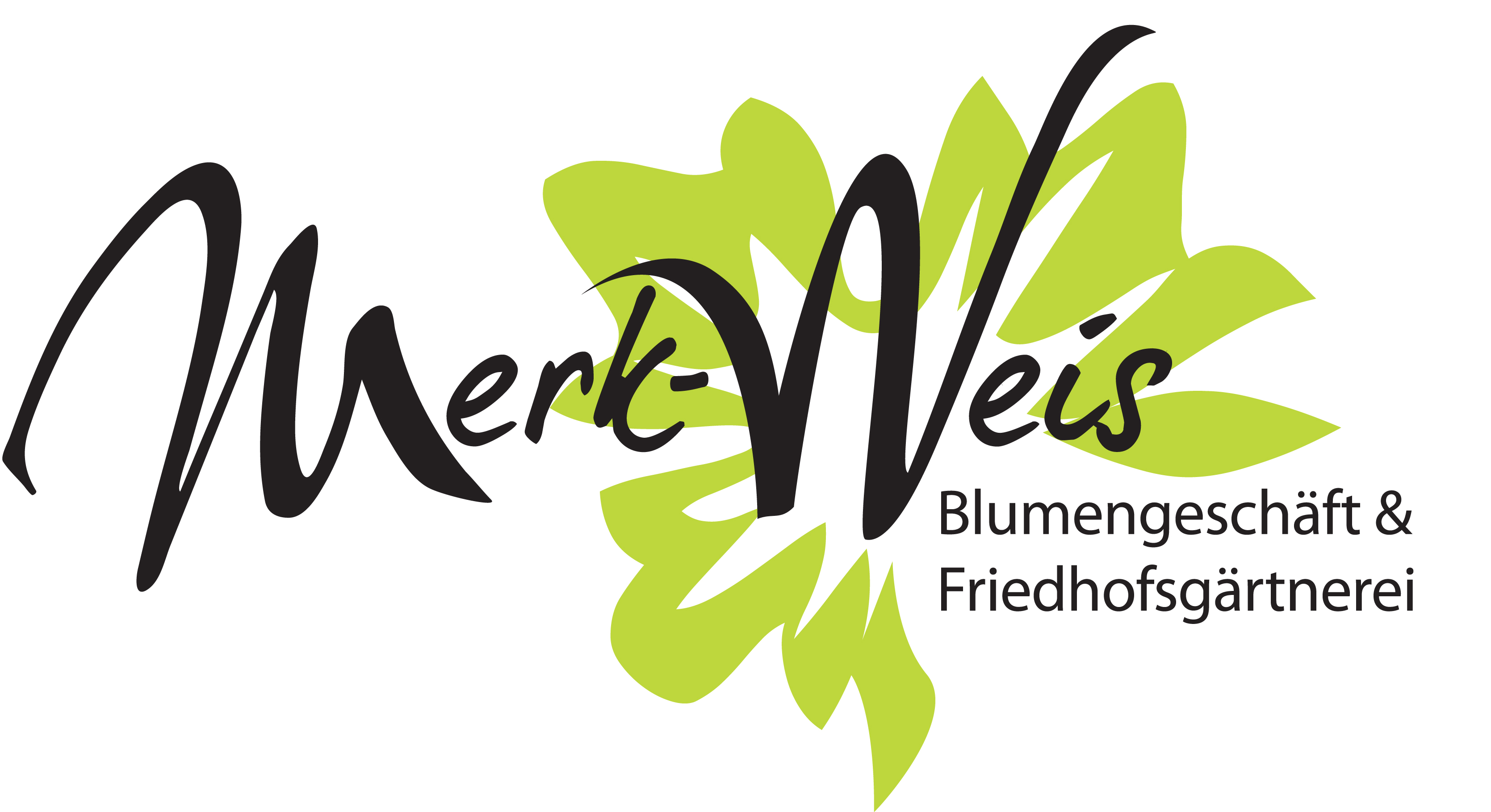 Blumen Merk-Weis Logo