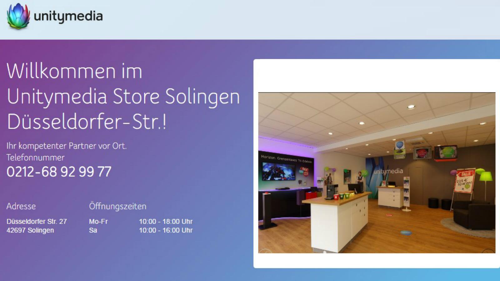 Unitymedia Store Solingen