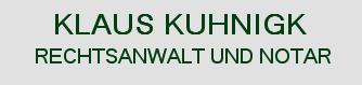 Rechtsanwalt Klaus Kuhnigk