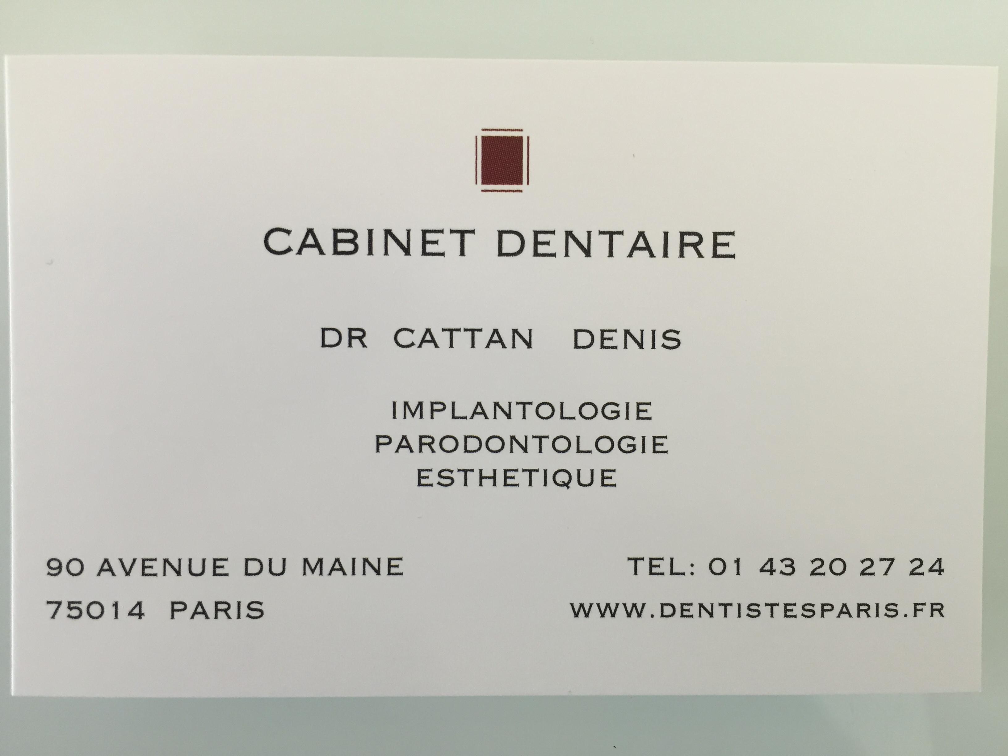 DOCTEUR CATTAN DENIS CHIRURGIEN DENTISTE