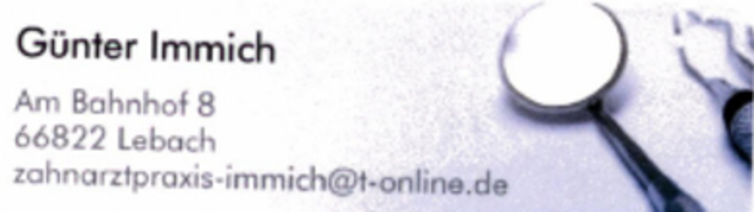Bild zu Zahnarztpraxis Günter Immich in Lebach