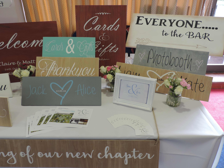 Im & Er Wedding Signs