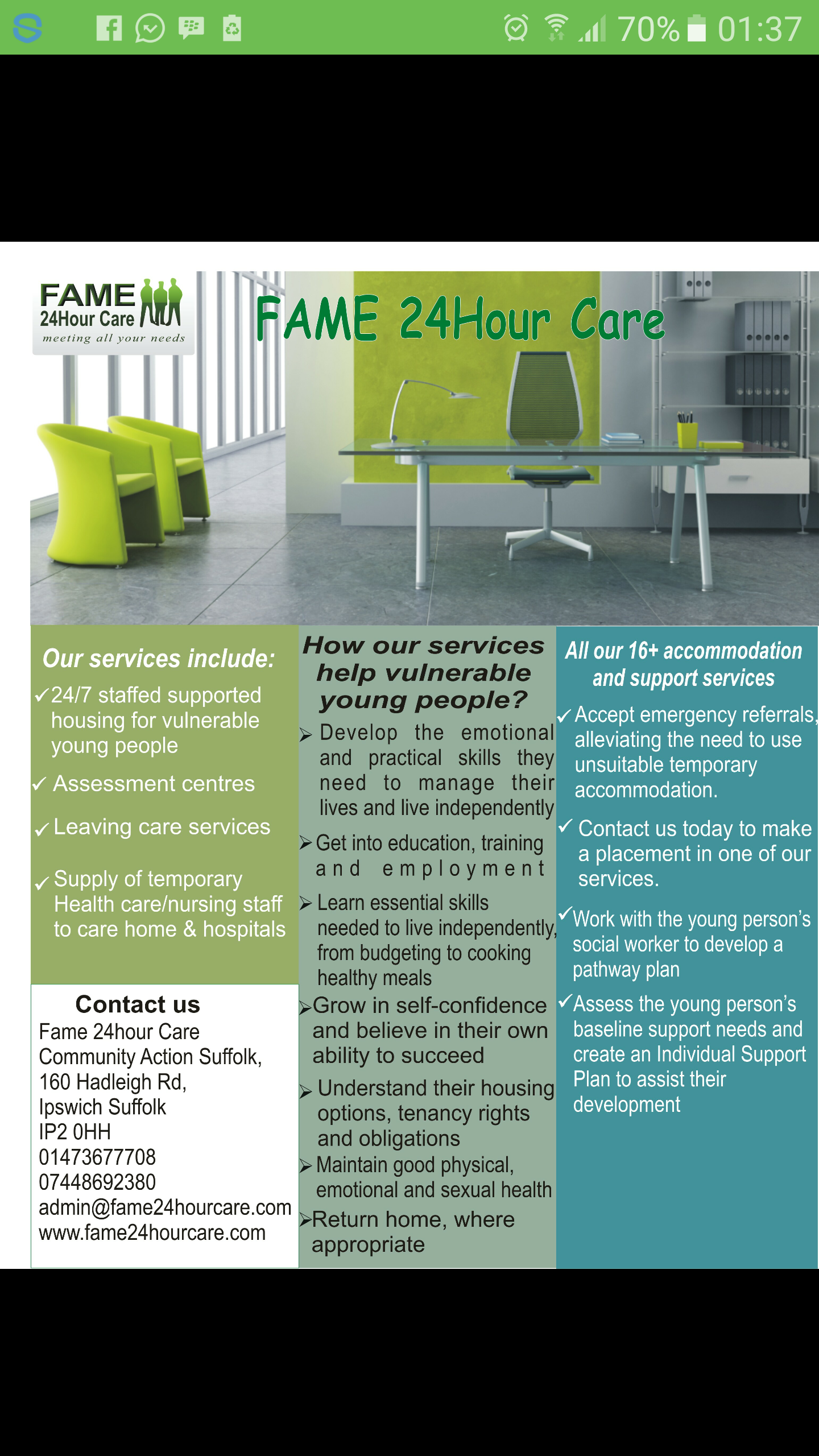 Fame 24Hour Care - Ipswich, Suffolk IP2 0HH - 01473 677708 | ShowMeLocal.com