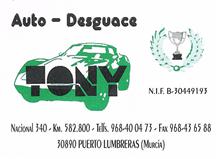 AUTODESGUACE TONY
