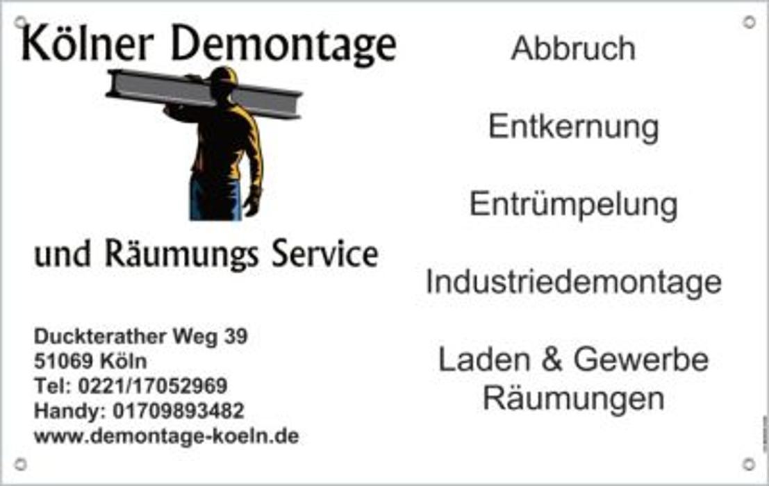 Bild zu Kölner Demontage und Räumungs Service UG (haftungsbeschränkt) in Köln