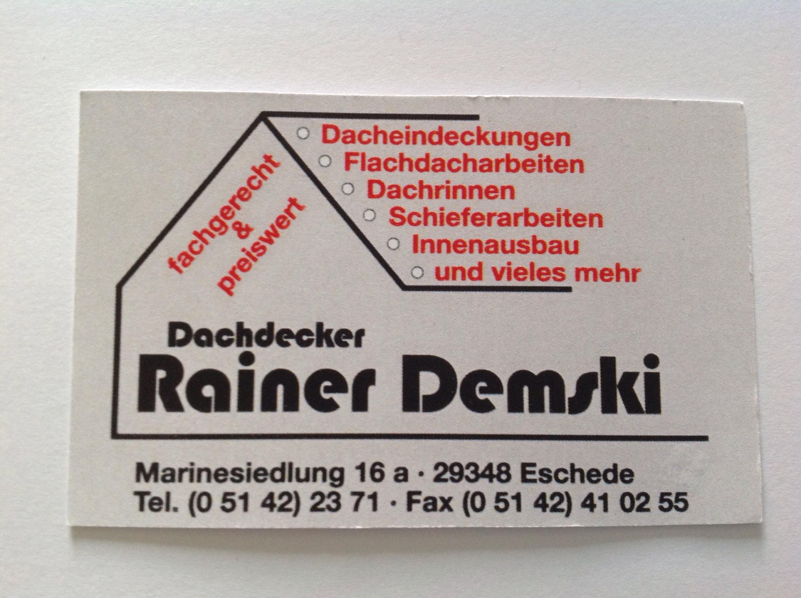 Dachdeckerbetrieb Rainer Demski