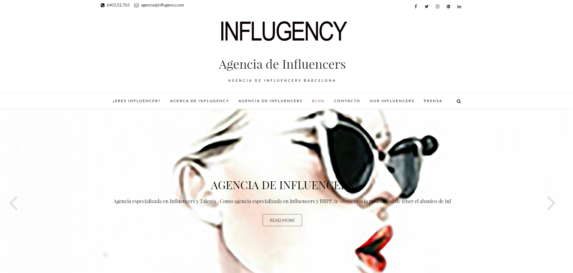 INFLUGENCY- Agencia de influencers (Influgency and Smile, SL)