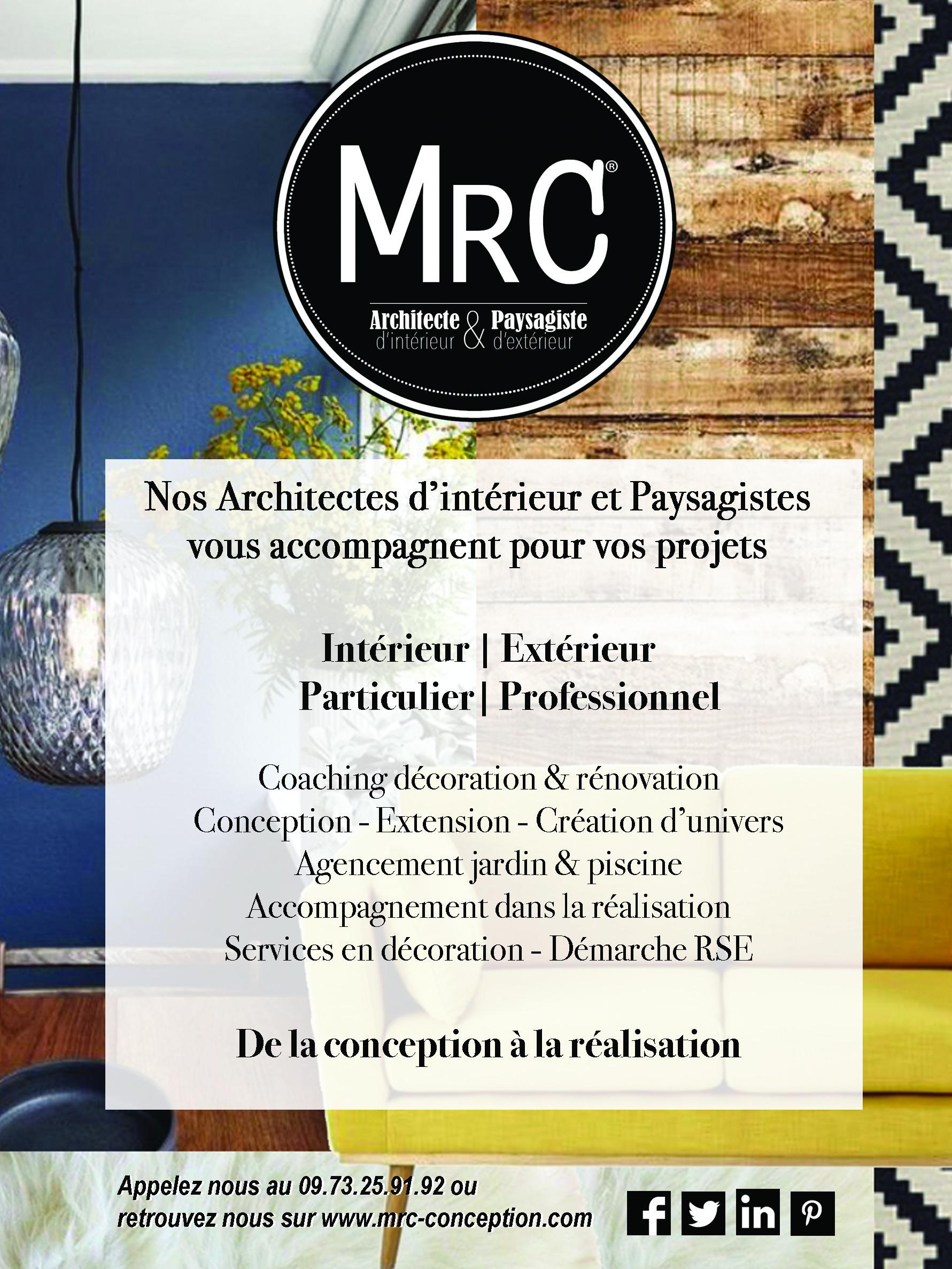 MRC AGENCE D'ARCHITECTE D'INTERIEUR ET PAYSAGISTE