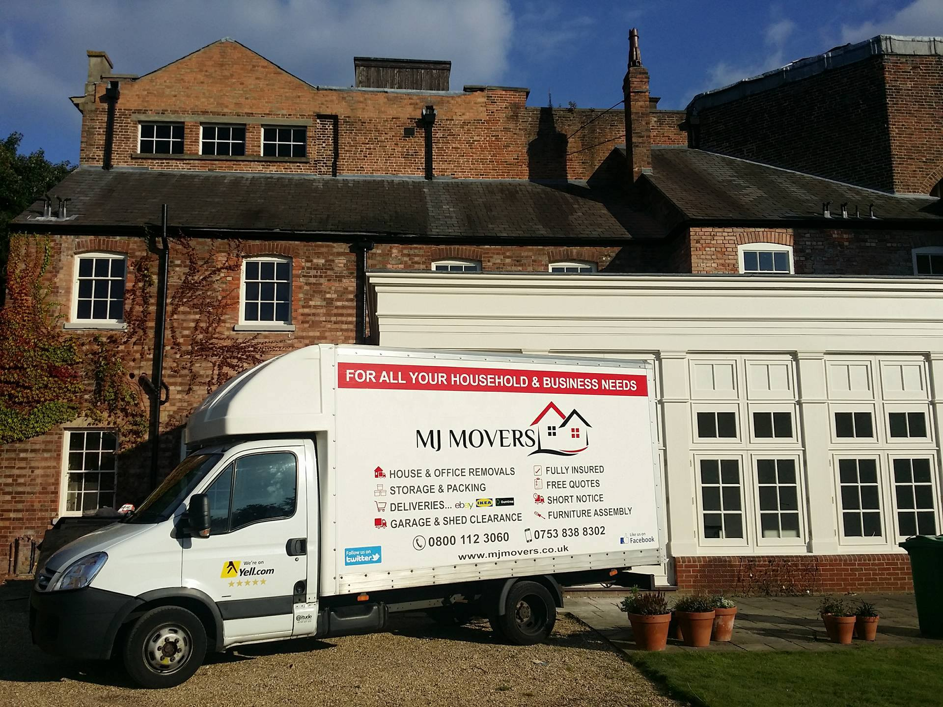 MJ Movers - House and Office Removals & Man with a Van Services